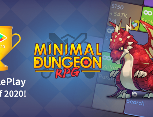 Minimal Dungeon RPG was chosen as one of GooglePlay's Best of 2020!